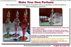 It is Easy to Make Your Own Perfume ~ Blending Techniques & Paola's Favorite Blend Essential Oil Perfume, Pure Essential Oils, Homemade Beauty Products, Pure Products, Perfume Recipes, Carrier Oils, Seed Oil, Diy Beauty, Aromatherapy