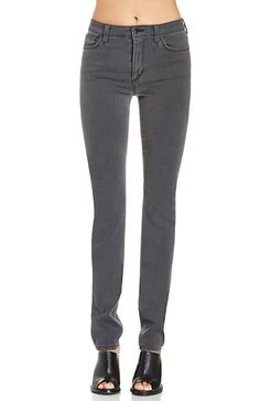 JOE'S JEANS High Rise Long Slim Skinny Jeans Pants Laine Grey 26 $189 #240 #JoesJeans #SlimSkinny