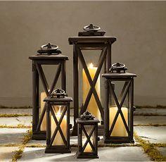 Avignon Square Lanterns – Weathered Bronze RH ($135)