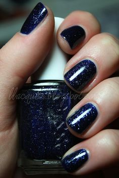 Love this blue /w a shimmer kind of like a starry night :)