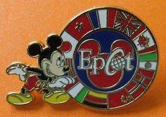#disney Disney Pin WDW - Mickey Mouse w/ Epcot Circle of Flags please retweet