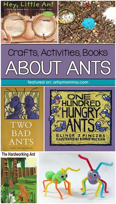 Crafts, Books, and Activities About Ants Ant Crafts, Insect Crafts, Book Crafts, Preschool Letters, Preschool Books, Preschool Lessons, Preschool Class, Science Experiments For Preschoolers, Craft Activities For Kids