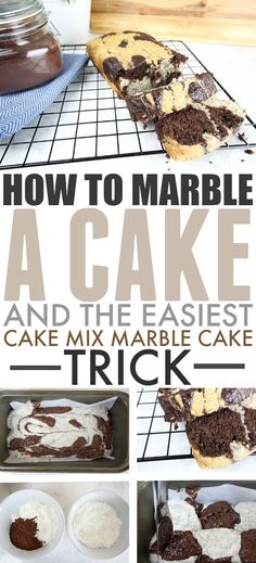 How to Marble a Cake | The Creek Line House #Baking #BakingTricks #MarbleCake #CakeRecipes