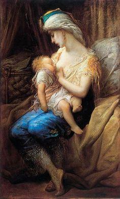 Gustave Doré, Jeune mère allaitant son enfant 1874