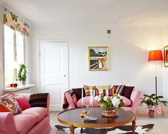Modern Interior Design and Decor Coloring White Decorating with Bold Accents