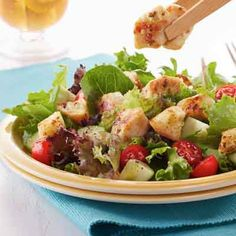 Ranch Chicken Crouton Salad from Land O'Lakes
