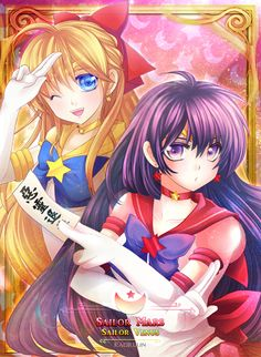 Eternal Sailor Venus & Eternal Sailor Mars fan art