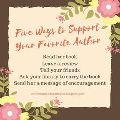 Five Ways to Support your Favorite Author