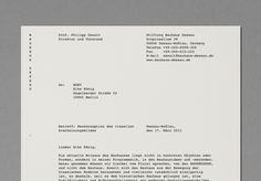 Letterhead – Minimal visual identity by Hort for Stiftung Bauhaus Dessau Web Design, Food Design, Graphic Design Studio, Graphic Design Posters, Layout Design, Print Design, Collateral Design, Letterhead Design, Stationary Design