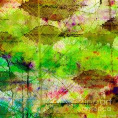 Colorful Leaves Abstract II by Debbie Portwood