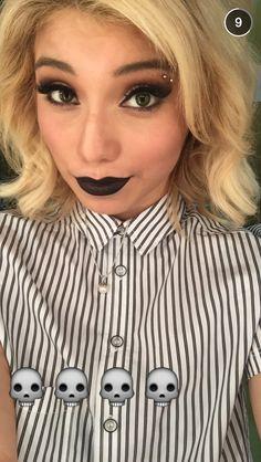 Kirstie Maldonado's double eyebrow piercing