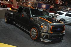 The Pit Boss Ford truck was created by reknown artist, Kris Horton and is now up for sale. This was taken at SEMA 2010