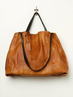 Free People Dip Dye Leather Tote, £350.00