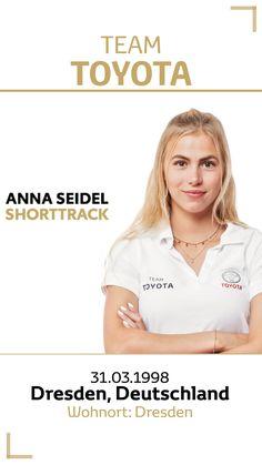 Team Toyota Deutschland: Anna Seidel.  Disziplin/Sportart: Shorttrack. #teamtoyota #teamtoyota_de #sport #olympics #paralympics #nichtsistunmöglich #roadtotokio #mobilityforall Team Toyota, Anna, Olympic Games, Germany