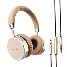Special Offers - Satechi Aluminum Bluetooth Wireless Headphones with 3.5mm Audio-out Jack for iPhone 6 Samsung Galaxy S6 and more Smartphones and Tablets  Features Enhanced Bass (Gold) - In stock & Free Shipping. You can save more money! Check It (May 05 2016 at 09:33PM) >> http://ift.tt/23s2YLr
