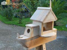 Adorable Pallet Birdhouses Plus Birdfeeders / Mes Créations écologiques Animal Pallet Houses & Pallet Supplies