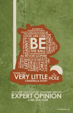 Caddyshack quote poster by outnerdme