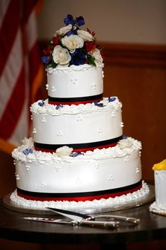 Red White and Blue Military Wedding
