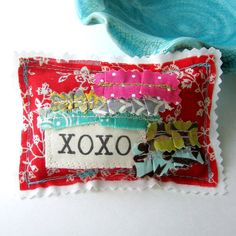 Lavender Sachet  Word Pillow Sachet Appliqued от tracyBdesigns