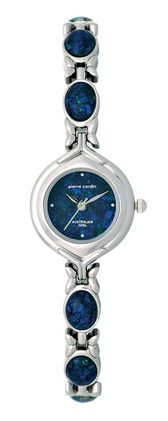Ladies Silver Tone Case & Opal Applied Bracelet, featuring a predominantly Blue Opal Dial (BB3585) $199.00 Blue Opal, Pierre Cardin, Fashion Watches, Clocks, Bracelet Watch, Jewelery, Bracelets, Silver, Accessories