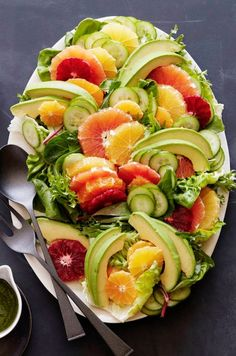 Citrus Avocado Salad from http://www.whatsgabycooking.com (/whatsgabycookin/)