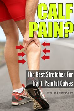 6 of the best stretches for tight calves! How to stretch your calf muscles the right way as demonstrated by a physical therapist. Whether you have tight calv. Stretches For Legs, Calf Exercises, Best Stretches, Doctor Of Physical Therapy, Physical Therapy Exercises, Work Out Routines Gym, Exercise Routines, Easy Workouts, At Home Workouts