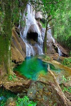 Waterfall in Bonito, Mato Grosso do Sul, Brazil