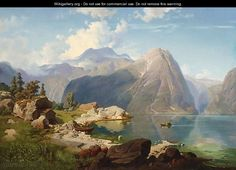 August Wilhelm Leu Hardanger Fjord - The Largest Art reproductions Center In Our website. Low Wholesale Prices Great Pricing Quality Hand paintings for saleAugust Wilhelm Leu Great Paintings, Old Paintings, Seascape Paintings, Fantasy Landscape, Landscape Art, Landscape Paintings, Landscapes, Oil Painting Pictures, Art Pictures