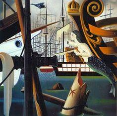 Urbano Lugrís: un surrealista gallego | Título: Mar de los sargazos (1946) Max Ernst, Rene Magritte, Surrealism Painting, Famous Artists, Fighter Jets, Van Gogh, Sea, Contemporary Paintings, Surreal Art