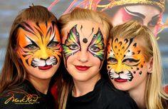 Amazing face painting by one of my favorite artists-Mark Reid Face Painting Images, Girl Face Painting, Face Painting Designs, Painting For Kids, Paint Designs, Kitty Face Paint, Face Paint Makeup, Tiger Face Paints, Balloon Painting