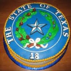 Texas seal grooms cake