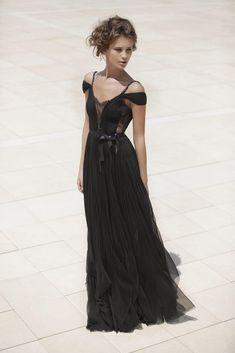 Black boho gown