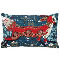 Klaus Haapaniemi's enchanting Running Fox cushion cover features a bright red fox among detailed flora. The pattern has been hand printed on both sides of the cover, which is made of a high-quality blend of linen and cotton. Fox Pillow, Silk Pillow, Linen Pillows, Cushions, Throw Pillows, Decor Pillows, Pillow Fight, Accent Pillows, Traditional Decorative Art