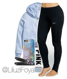 """"" by liluzifoya ❤ liked on Polyvore featuring H&M and NIKE"