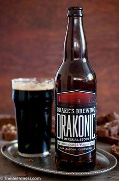 Drake's Drakonic Imperial Stout - Drake's Brewing Co. Chocolate Beer, Beer Types, I Like Beer, Dark Beer, Beer Packaging, Beer Signs, Beer Label, Wine And Beer, Beer Brewing