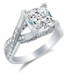 13 customer reviews 5 stars. Sonia Jewels Solid 14k White Gold Princess Cut Solitaire with Round Side Stones Highest Quality CZ Cubic Zirconia Engagement Ring 2.5ct. Cubic Zirconia Engagement Rings. List Price:$1,196.00 Price:$266.00  You Save:$930.00 (77%)