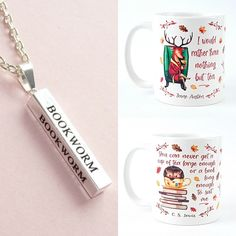 With Love for Books: Jane Austen & C.S. Lewis Autumn Quote Mugs & Bookw...
