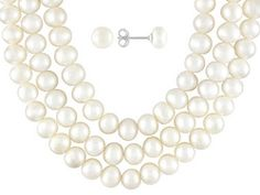 6-7mm White Cultured Freshwater Pearl Sterling Silver 18, 24, 36 Inch Necklace