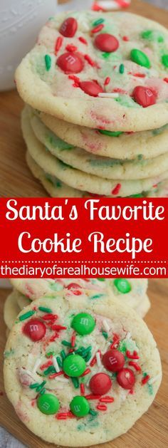 Santa's Favorite Cookie Recipe. Making these to leave next to the tree this year! They are moms, I means Santas favorite!