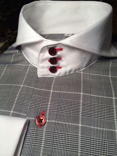 MorCouture Glen Plaid Cutaway Collar Shirt