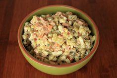 Olivye – Ukrainian Potato Salad – Оливье. My mom makes it a little different than this recipe.