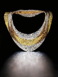 Beautiful Fashion Details...Multi colored rose cut diamond Necklace, De Beers.