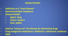 the disease model and the moral model for considering drug addiction They may mistakenly think that those who use drugs lack moral principles or  in reality, drug addiction is a complex disease, and quitting usually takes more.