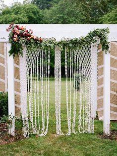 40 Macrame Wedding Ideas That Excite | HappyWedd.com #PinoftheDay #macrame #wedding #ideas #excite