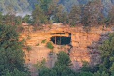 You'll have a view over a valley all the way across to Double Arch. Hiking Spots, Camping Spots, Hiking Trails, Kentucky Hiking, Kentucky Derby, Kentucky Vacation, Cool Places To Visit, Places To Travel, Red River Gorge Kentucky