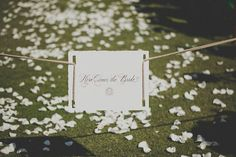 Here comes the bride aisle sign