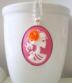 Neon Skeleton Necklace-for Jessica! :)