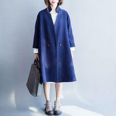 Korean Style Wool Long Coat Women Clothes W2601A