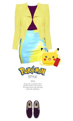 """Pokemon Style"" by juhh ❤ liked on Polyvore featuring Alice + Olivia, Vans and Nintendo"
