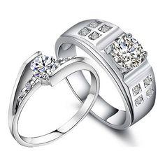 Engraved Diamond Engagement Rings Set Gullei.com ☺. ☺. ☂  ✿